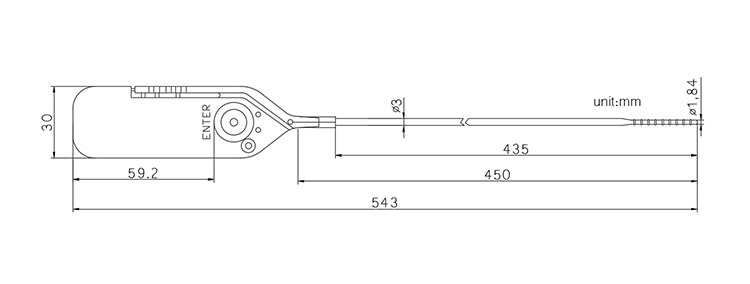 TX-PS002 Pull up plastic seal CAD